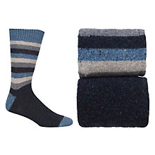 Buy JOHN LEWIS & Co. Stripe Socks, Pack of 2 Online at johnlewis.com