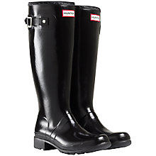 Buy Hunter Original Tour Tall Fold-Up Wellington Boots, Black Online at johnlewis.com