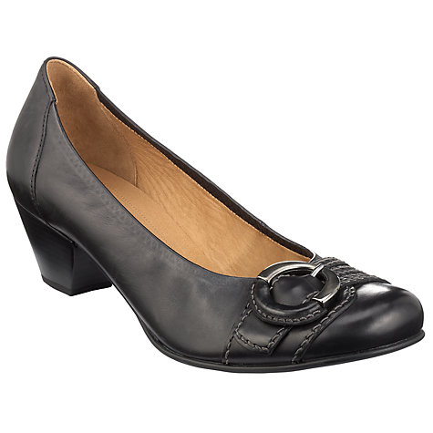 Buy Gabor Faro Buckle Detail Block Heel Court Shoes Online at johnlewis.com