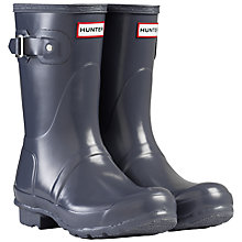 Buy Hunter Original Gloss Short Wellington Boots, Graphite Online at johnlewis.com