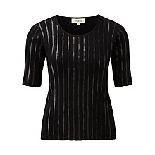 Buy Viyella Cable Knit Jumper, Black Online at johnlewis.com