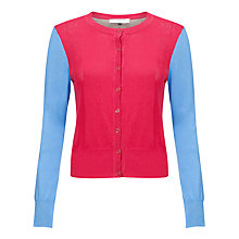 Buy COLLECTION by John Lewis Aurora Colour Block Cardigan, Sunset/Cornflower Online at johnlewis.com
