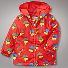 Buy John Lewis Duck Print Cagoule with Bag, Red Online at johnlewis.com