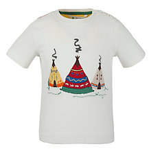 Buy John Lewis Short Sleeved Tipi T-shirt, Cream Online at johnlewis.com