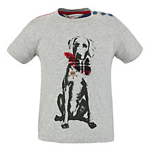Buy John Lewis Short Sleeved Dog Sheriff T-Shirt, Grey Online at johnlewis.com