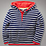 Buy John Lewis French Rib Hoodie, Navy Online at johnlewis.com
