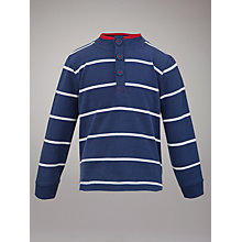 Buy John Lewis Striped Jersey Jumper, Navy/White Online at johnlewis.com