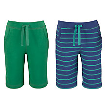 Buy John Lewis Bermuda Shorts, Pack of 2, Navy Stripe/Green Online at johnlewis.com