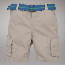 Buy John Lewis Twill Shorts with Belt, Stone Online at johnlewis.com