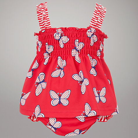Buy John Lewis Butterfly Tankini, Red Online at johnlewis.com