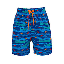 Buy John Lewis Crocodile Board Shorts, Blue Online at johnlewis.com