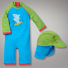Buy John Lewis Shark Sunpro Suit, Blue/Green Online at johnlewis.com