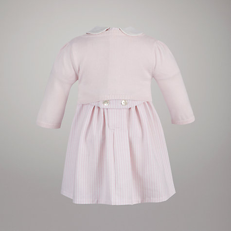 Buy Emile et Rose Striped Dress with Cardigan and Hat, Pink/White Online at johnlewis.com