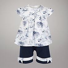 Buy Emile et Rose Floral Top with Shorts and Headband, Navy Online at johnlewis.com