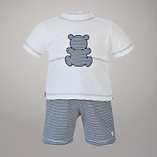 Buy Emile et Rose Teddy T-Shirt and Striped Shorts, Navy/White Online at johnlewis.com