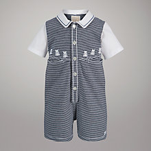 Buy Emile et Rose Striped Teddy Romper, Navy/White Online at johnlewis.com