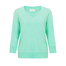 Buy Collection WEEKEND by John Lewis Flouro Sweat Top, Aqua Online at johnlewis.com