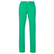 Buy Lauren by Ralph Lauren Modern Slimming Straight Leg Trousers, Green Online at johnlewis.com