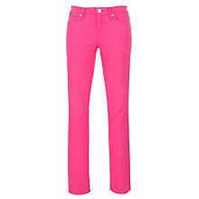 Buy Lauren by Ralph Lauren Modern Slimming Straight Leg Trousers, Harbour Pink Online at johnlewis.com
