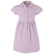 Buy John Lewis Gingham Checked Summer Dress, Purple Online at johnlewis.com