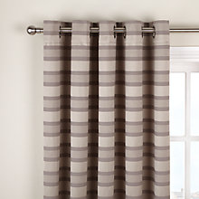 Buy John Lewis Contour Stripe Eyelet Curtains Online at johnlewis.com