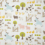 Buy little home at John Lewis Farmyard Blackout Lined Pencil Pleat Curtains, Natural Multi Online at johnlewis.com