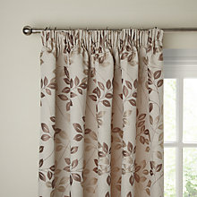 Buy John Lewis Shadow Leaf Lined Pencil Pleat Curtains, Natural Online at johnlewis.com