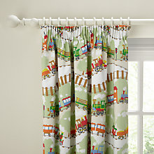 Buy little home at John Lewis Choochootrains Blackout Pencil Pleat Curtains Online at johnlewis.com