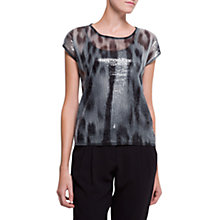 Buy Mango Sequin T-Shirt, Black Online at johnlewis.com