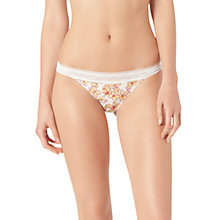 Buy Calvin Klein Naked Glamour Jasmin Floral Lace Thong Online at johnlewis.com