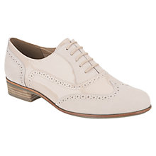 Buy Clarks Hamble Oak Patent and Leather Wingtip Brogues, Nude Online at johnlewis.com