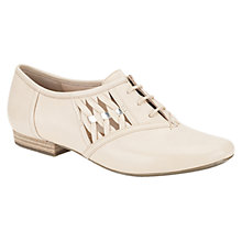 Buy Clarks Henderson Cute Woven Leather Lace-Up Shoes, Nude Online at johnlewis.com