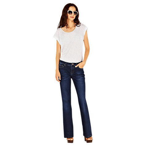 Buy Oasis Mid Wash Jeans, Long Length, Denim Online at johnlewis.com