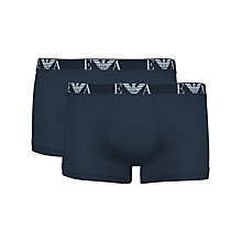 Buy Emporio Armani Fashion Trunks, Pack of 2 Online at johnlewis.com