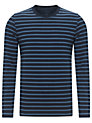Buy John Lewis Organic Tonal Stripe Top, Blue, XXL Online at johnlewis.com