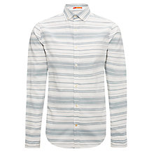 Buy Kin by John Lewis Long Sleeve Horizontal Stripe Shirt, Cream/Navy Online at johnlewis.com