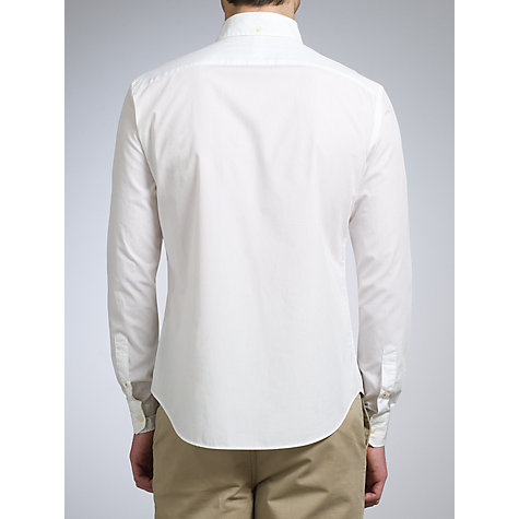 Buy Kin by John Lewis Long Sleeve Washed Poplin Shirt, White Online at johnlewis.com