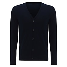 Buy Kin by John Lewis Cotton Knit Cardigan, Navy Online at johnlewis.com