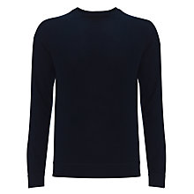 Buy Kin by John Lewis Cotton Crew Neck Sweatshirt, Navy Online at johnlewis.com