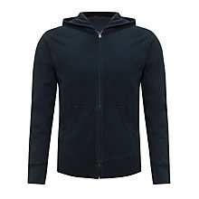 Buy Kin by John Lewis Long Sleeve Zip Through Hoodie, Navy Online at johnlewis.com