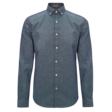 Buy Kin by John Lewis Polka Dot Chambray Shirt, Indigo Online at johnlewis.com