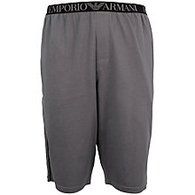 Buy Emporio Armani Bermuda Cotton Shorts, Grey Online at johnlewis.com