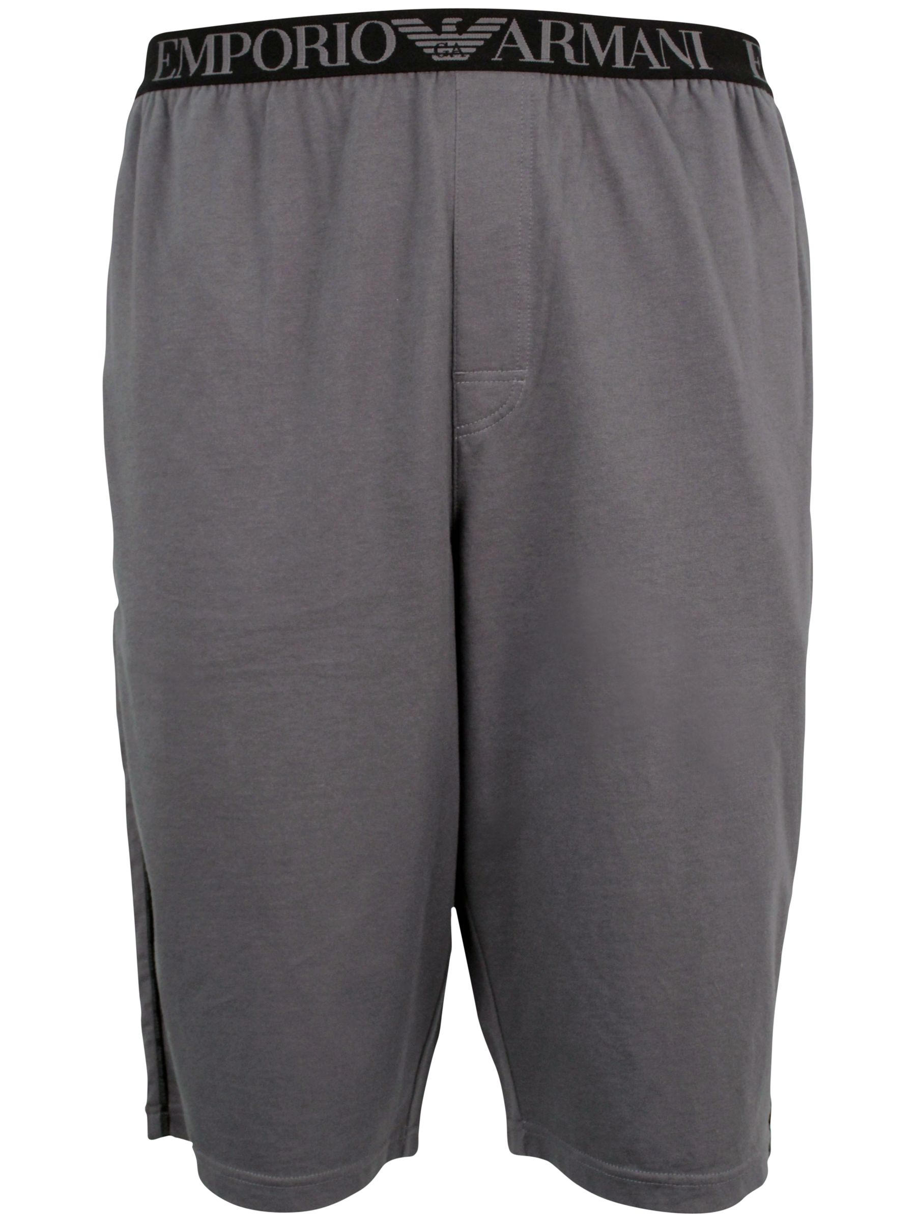 Emporio Armani Bermuda Cotton Shorts, Grey