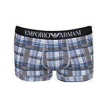 Buy Emporio Armani Multi Stripe Trunks, Light Grey Online at johnlewis.com