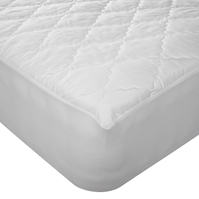 John Lewis Soft Touch Washable Mattress Protector, Depth 32cm