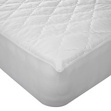 Buy John Lewis Soft Touch Washable Mattress Protector, Depth 32cm Online at johnlewis.com