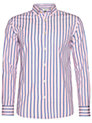 Buy John Lewis Long Sleeve Preppy Satin Stripe Shirt, Pink, L Online at johnlewis.com