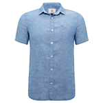 John Lewis End On End Linen Short Sleeve Shirt