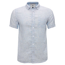 Buy John Lewis Fine Stripe Linen Short Sleeve Shirt Online at johnlewis.com