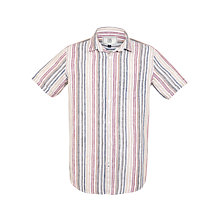 Buy John Lewis Earth Linen Stripe Short Sleeve Shirt Online at johnlewis.com